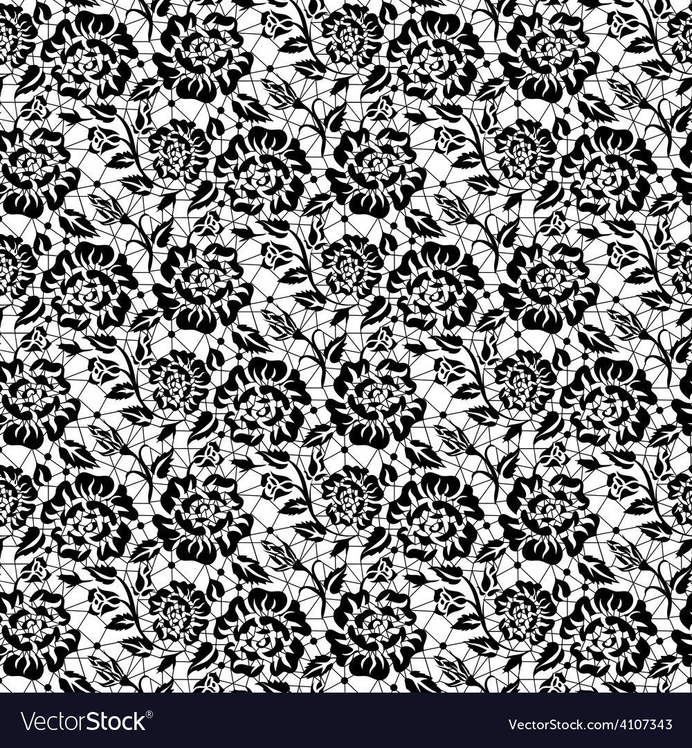 Black rose lace vector | Price: 1 Credit (USD $1)