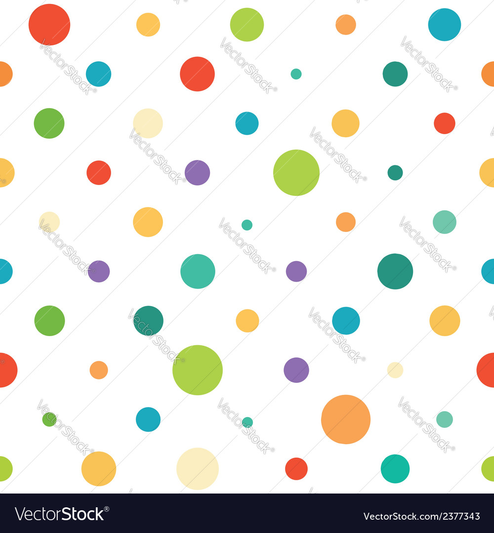 Colorful spotted seamless pattern vector | Price: 1 Credit (USD $1)
