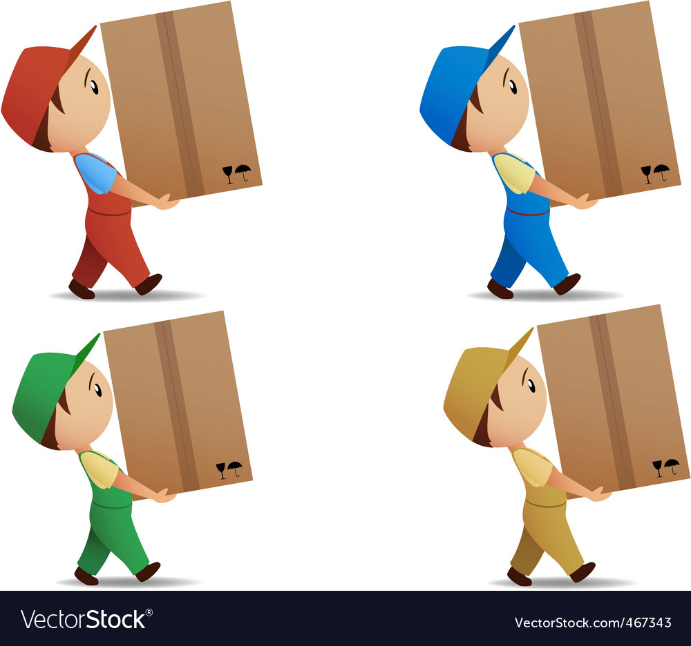 Delivery boy vector | Price: 1 Credit (USD $1)