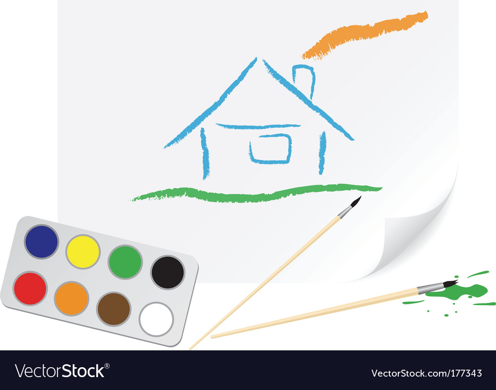 Drawing home vector | Price: 1 Credit (USD $1)