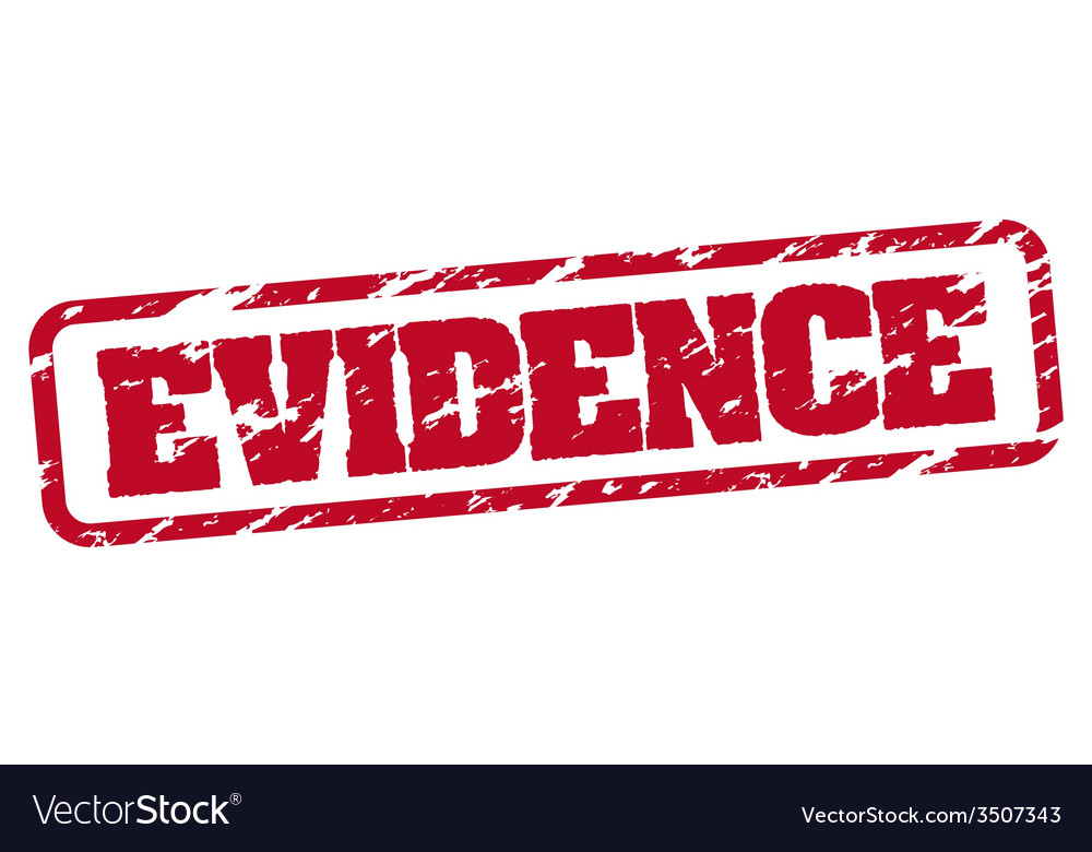 Evidence rubber stamp vector | Price: 1 Credit (USD $1)