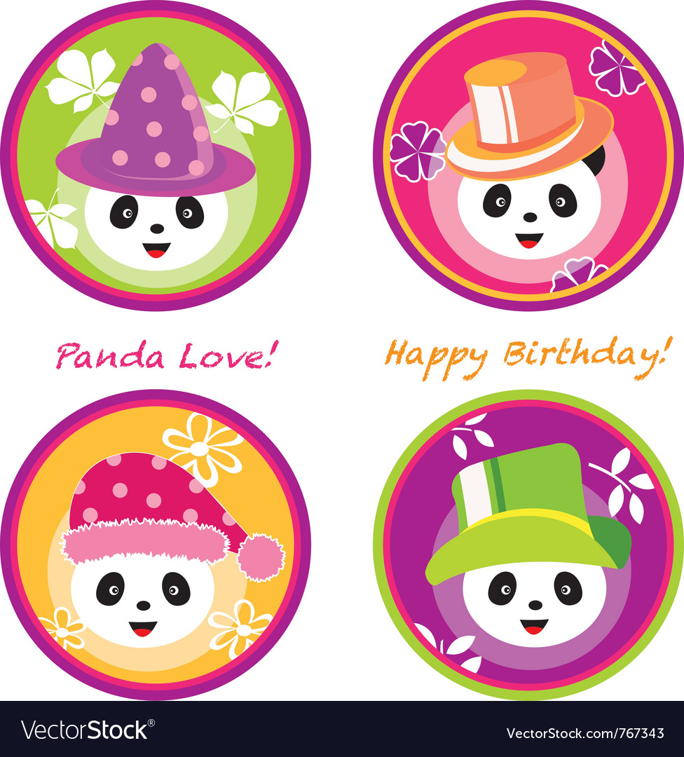 Fun panda vector | Price: 1 Credit (USD $1)