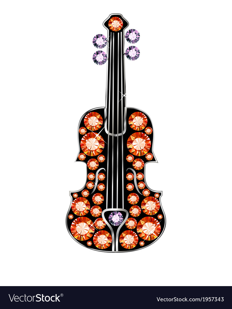 Gem violin vector | Price: 1 Credit (USD $1)