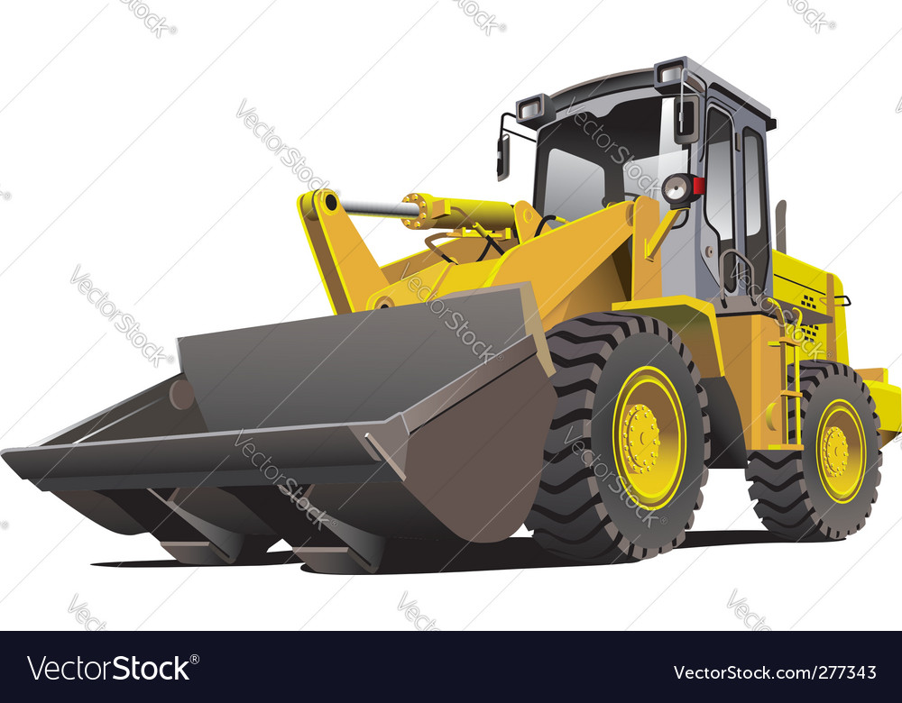 Loader front vector | Price: 3 Credit (USD $3)