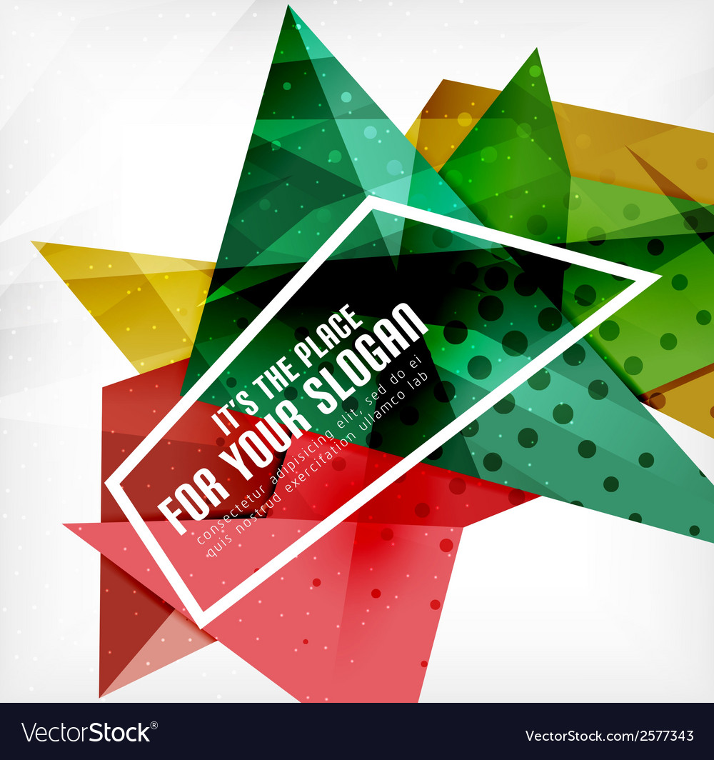 Modern 3d glossy overlapping triangles vector | Price: 1 Credit (USD $1)