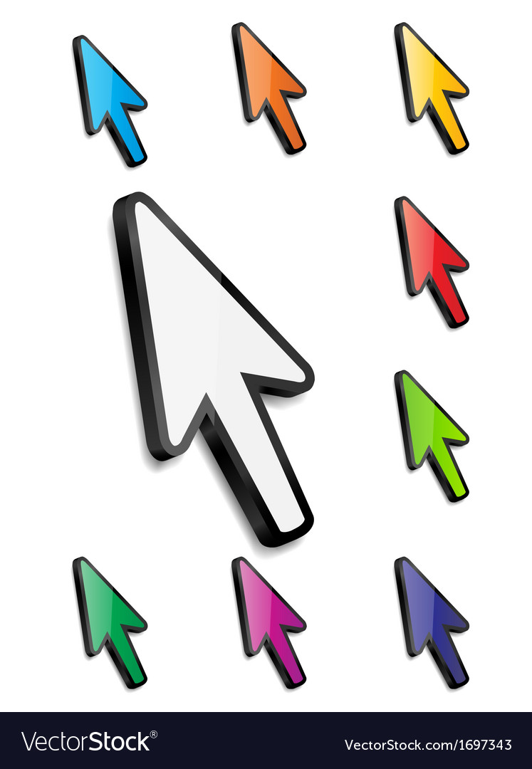 Mouse arrow cursor vector | Price: 1 Credit (USD $1)