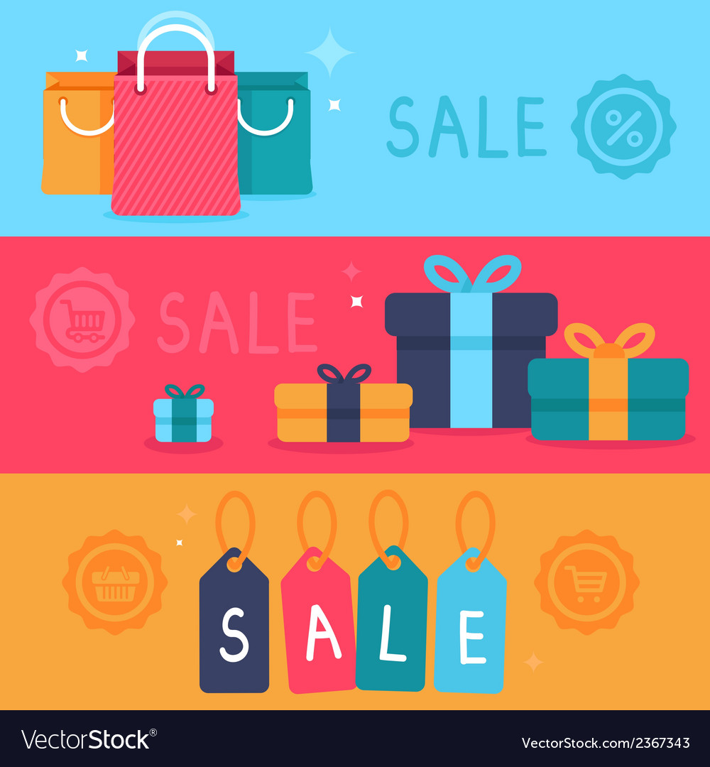 Sale concept in flat style vector | Price: 1 Credit (USD $1)