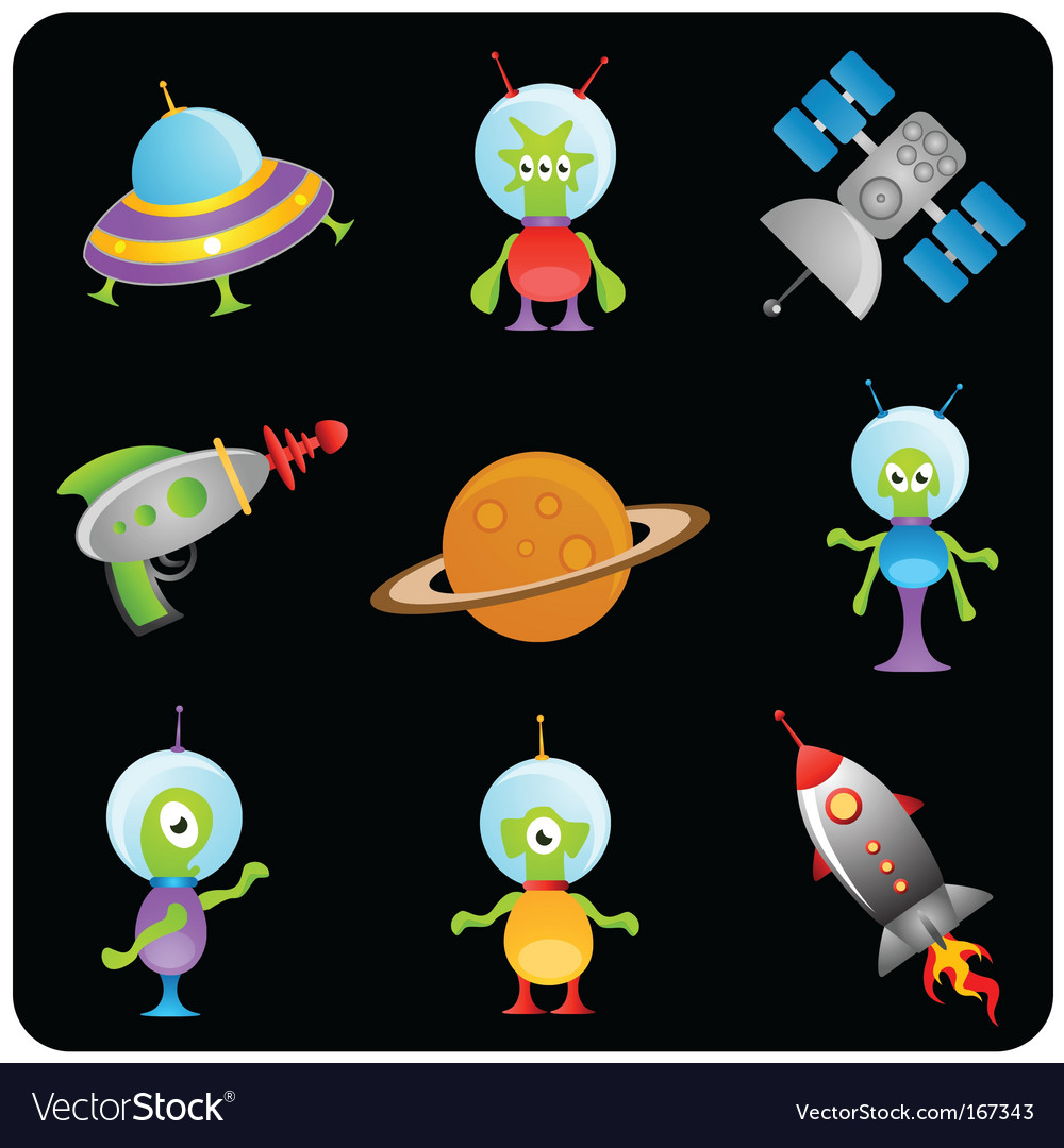 Space elements set vector | Price: 1 Credit (USD $1)