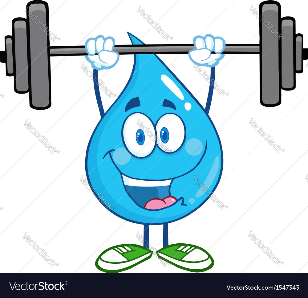 Water droplet cartoon character vector | Price: 1 Credit (USD $1)