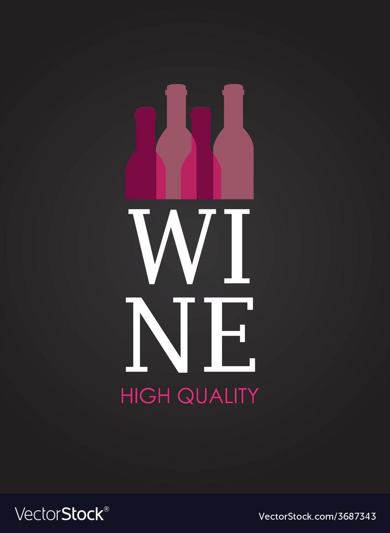 Wine design over black background vector | Price: 1 Credit (USD $1)