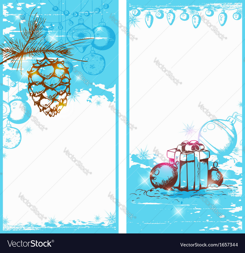 Blue christmas vertical banners vector | Price: 1 Credit (USD $1)
