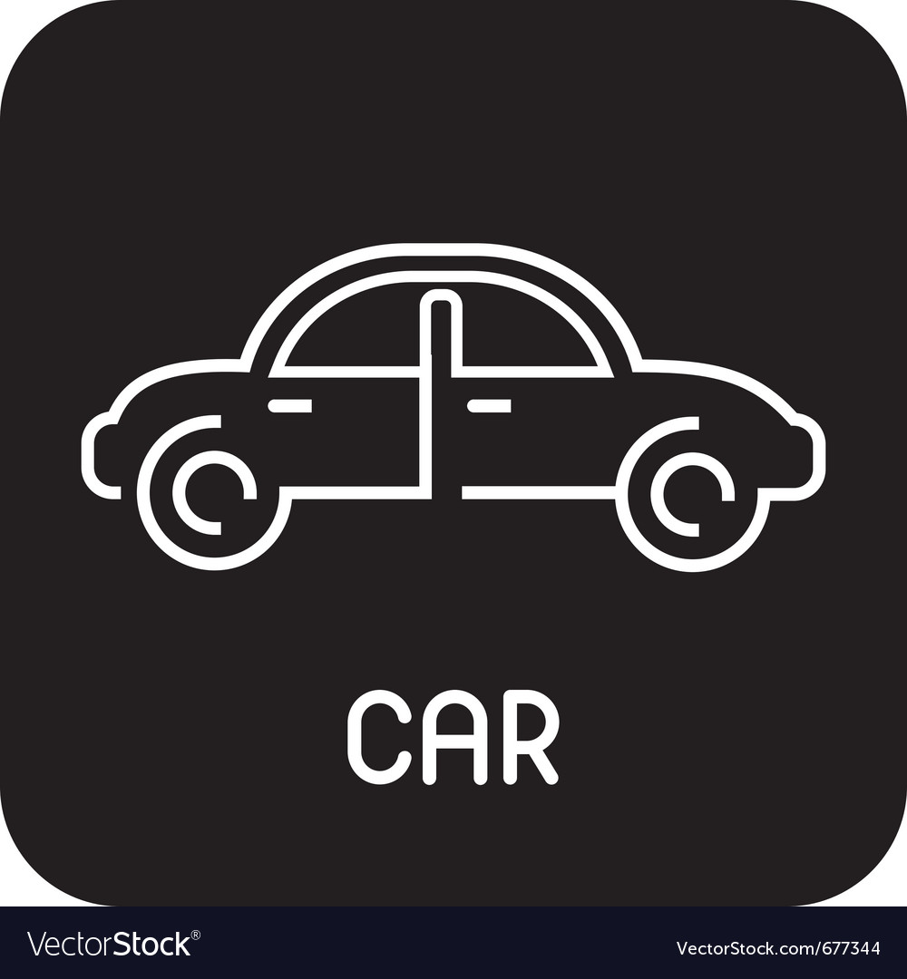 Car - icon vector | Price: 1 Credit (USD $1)