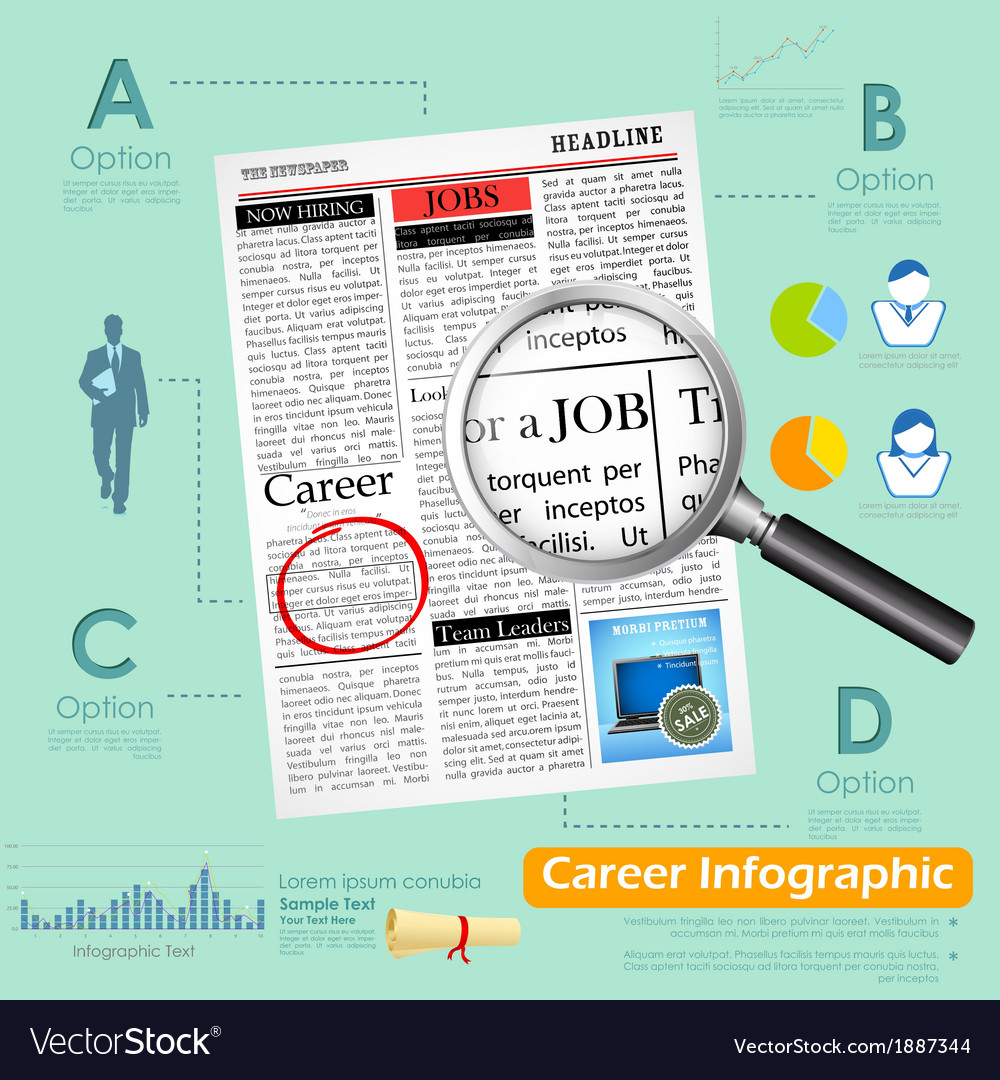 Career infographics vector | Price: 1 Credit (USD $1)