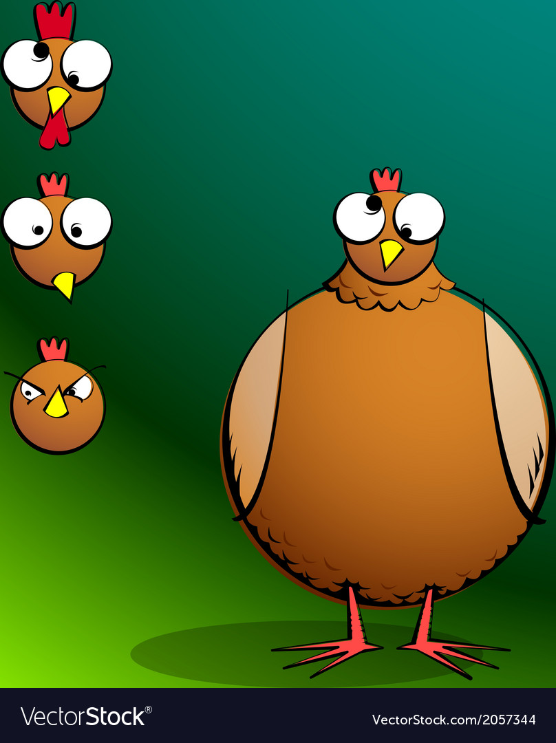 Chickensrround confusedchicken vector | Price: 1 Credit (USD $1)