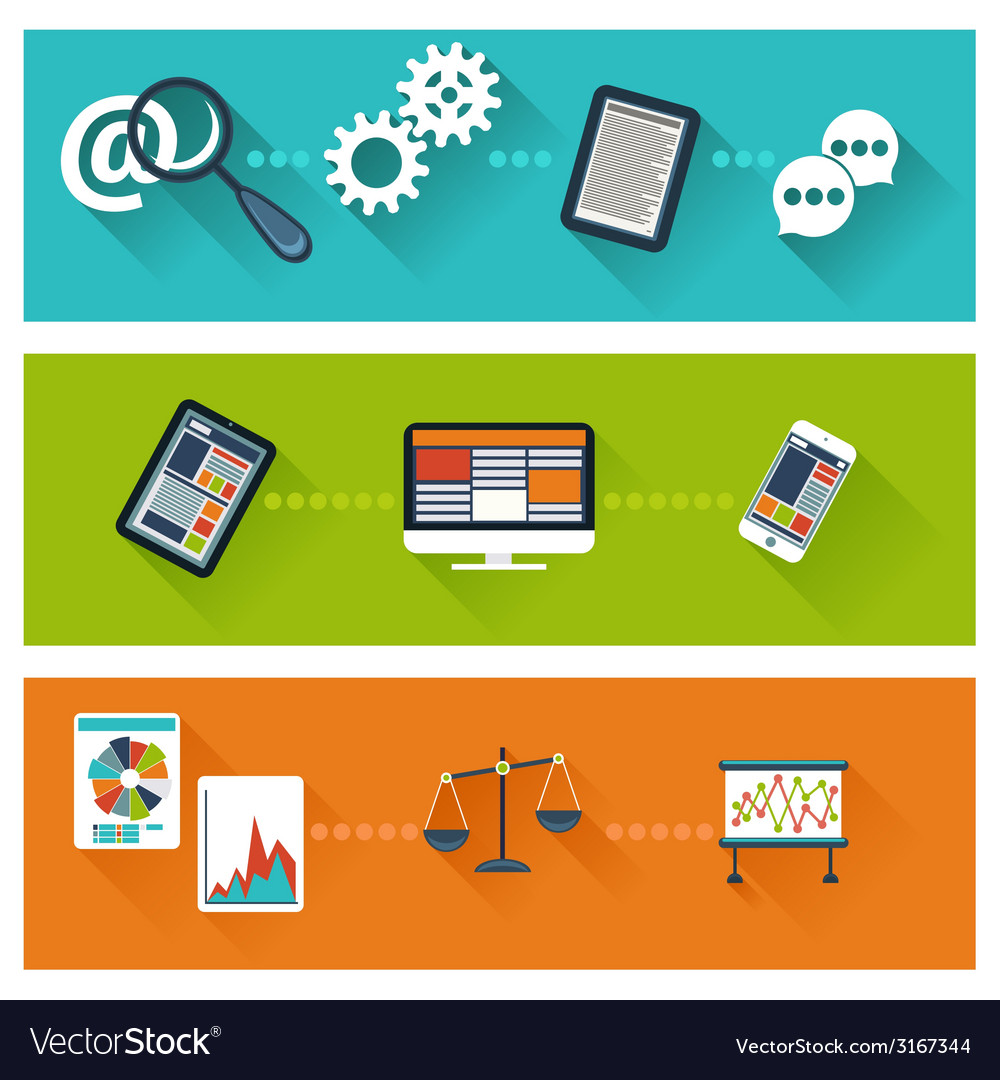 Concept for business development web analytics vector | Price: 1 Credit (USD $1)