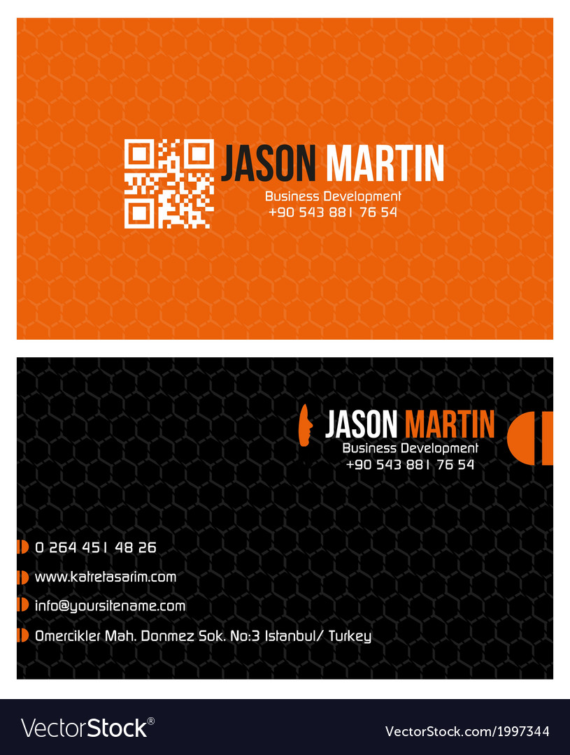 Creative business card vector | Price: 1 Credit (USD $1)