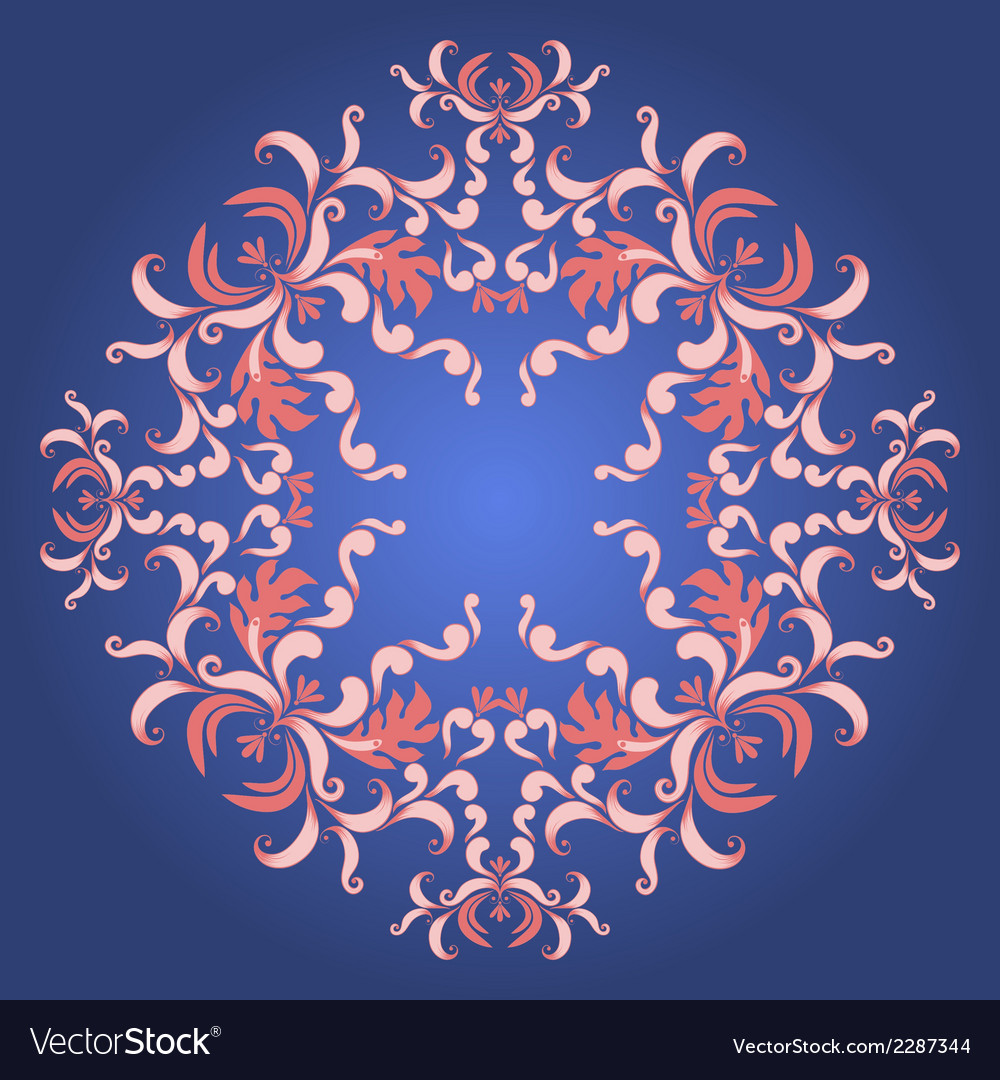 Filigree damask background with vintage ornament vector | Price: 1 Credit (USD $1)