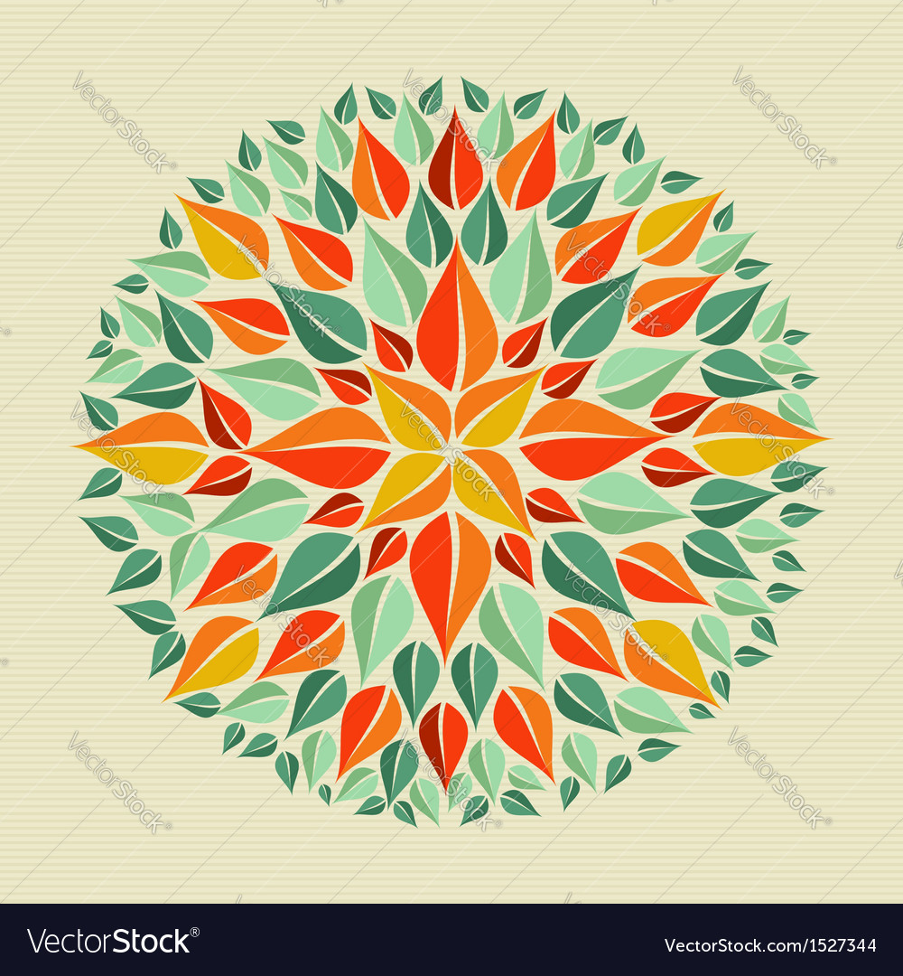Leaves yoga mandala vector | Price: 1 Credit (USD $1)