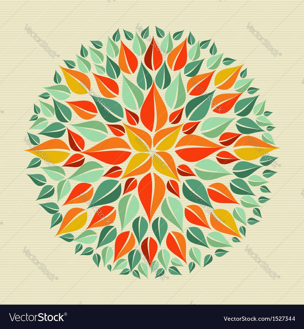 Leaves yoga mandala vector | Price: 1 Credit (USD $1)