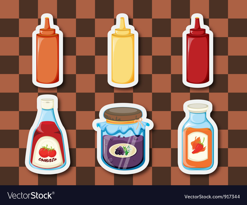Sticker series breakfast spreads vector | Price: 3 Credit (USD $3)