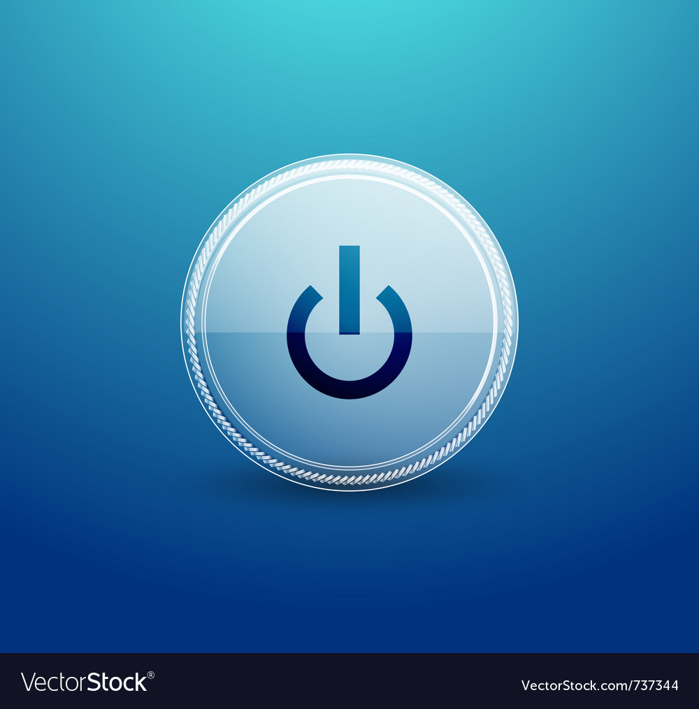 Web glass power button vector | Price: 1 Credit (USD $1)