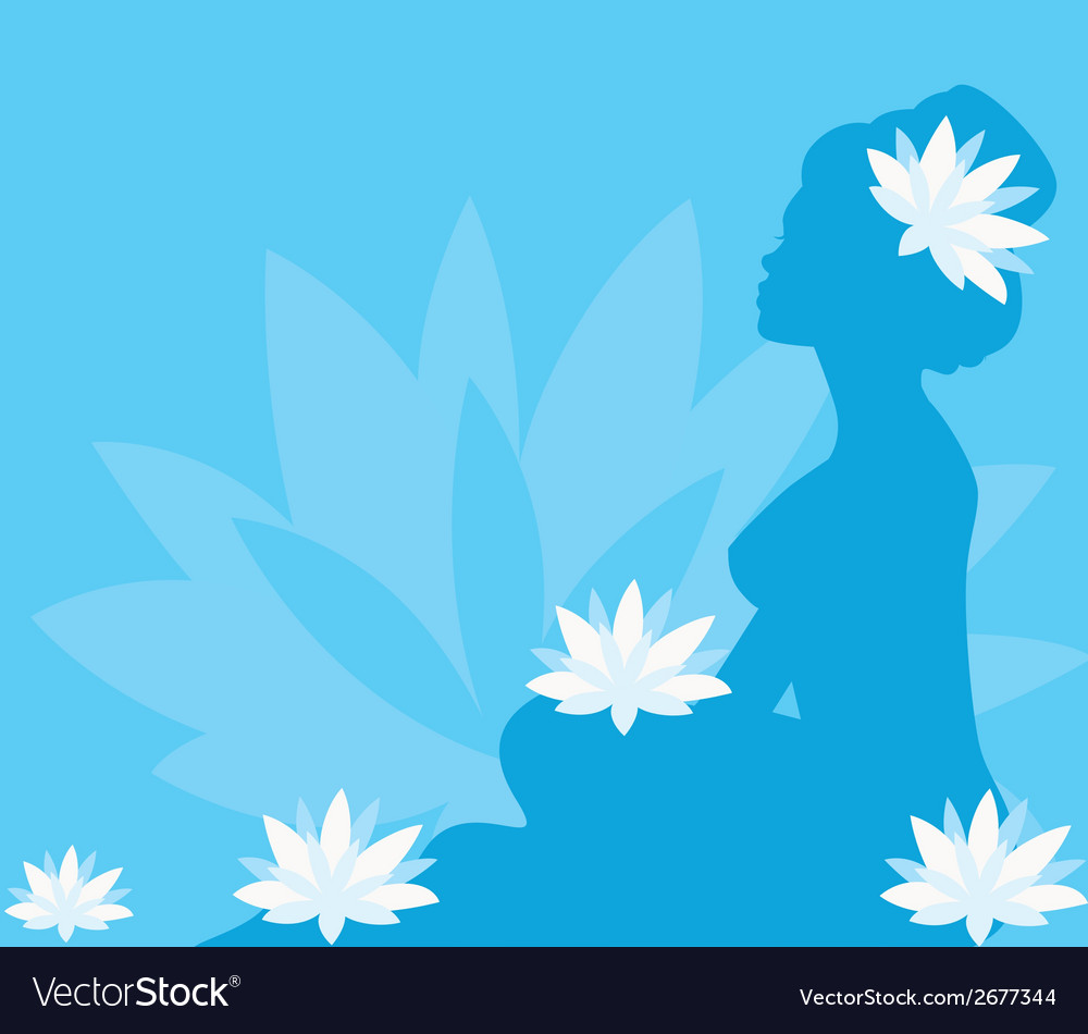Young woman in spa vector | Price: 1 Credit (USD $1)