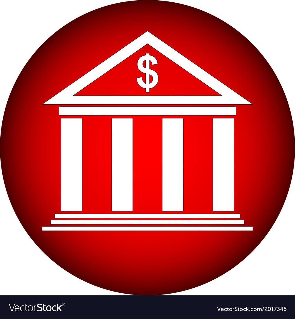 Bank icon vector   Price: 1 Credit (USD $1)