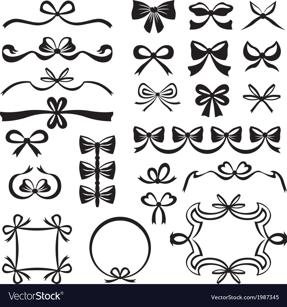 Bow decor vector | Price: 1 Credit (USD $1)