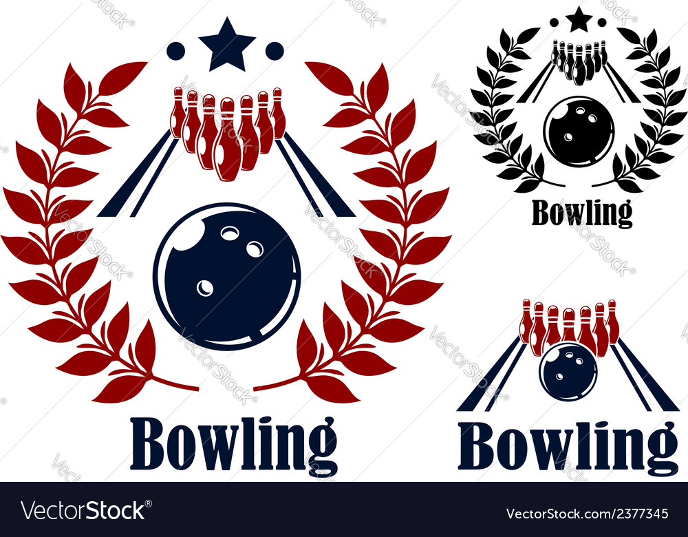 Bowling emblems and symbols vector | Price: 1 Credit (USD $1)