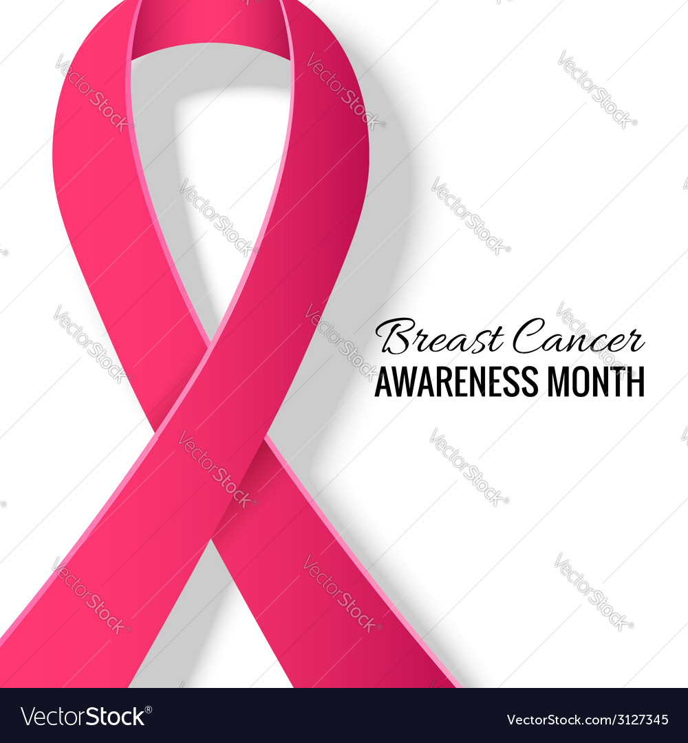 Breast cancer awareness month background vector | Price: 1 Credit (USD $1)