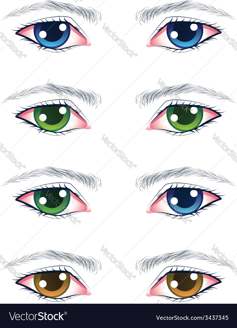 Colorful male eyes vector | Price: 1 Credit (USD $1)