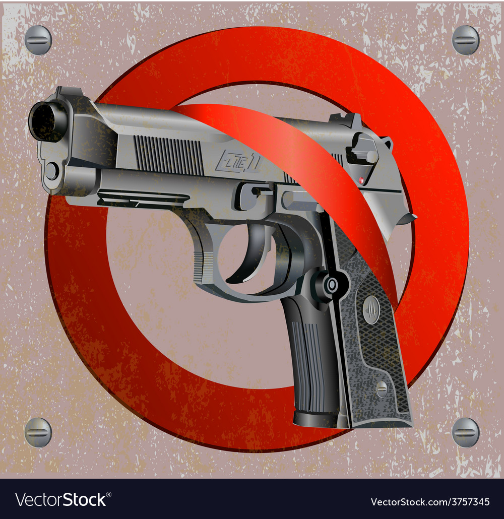 Handgun beretta elite stop vector | Price: 3 Credit (USD $3)