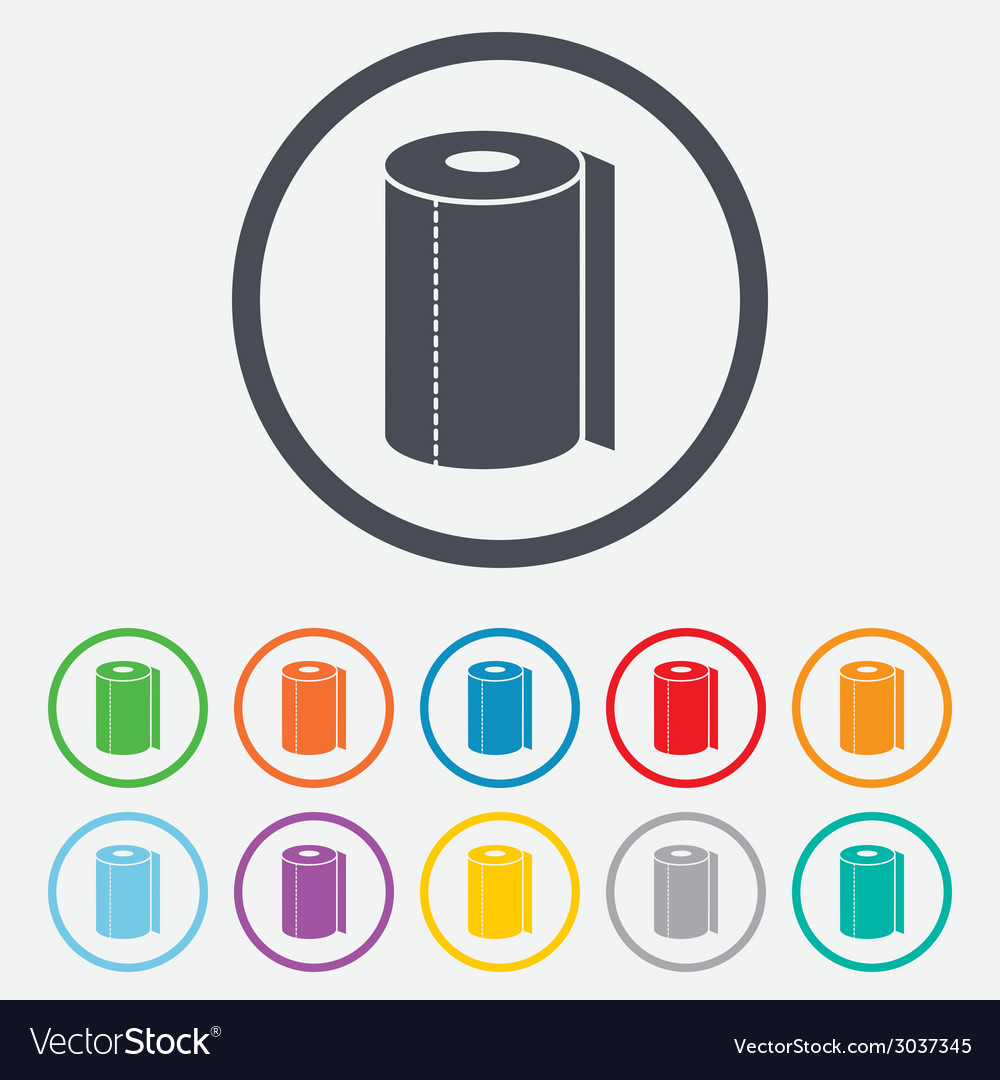 Paper towel sign icon kitchen roll symbol vector   Price: 1 Credit (USD $1)