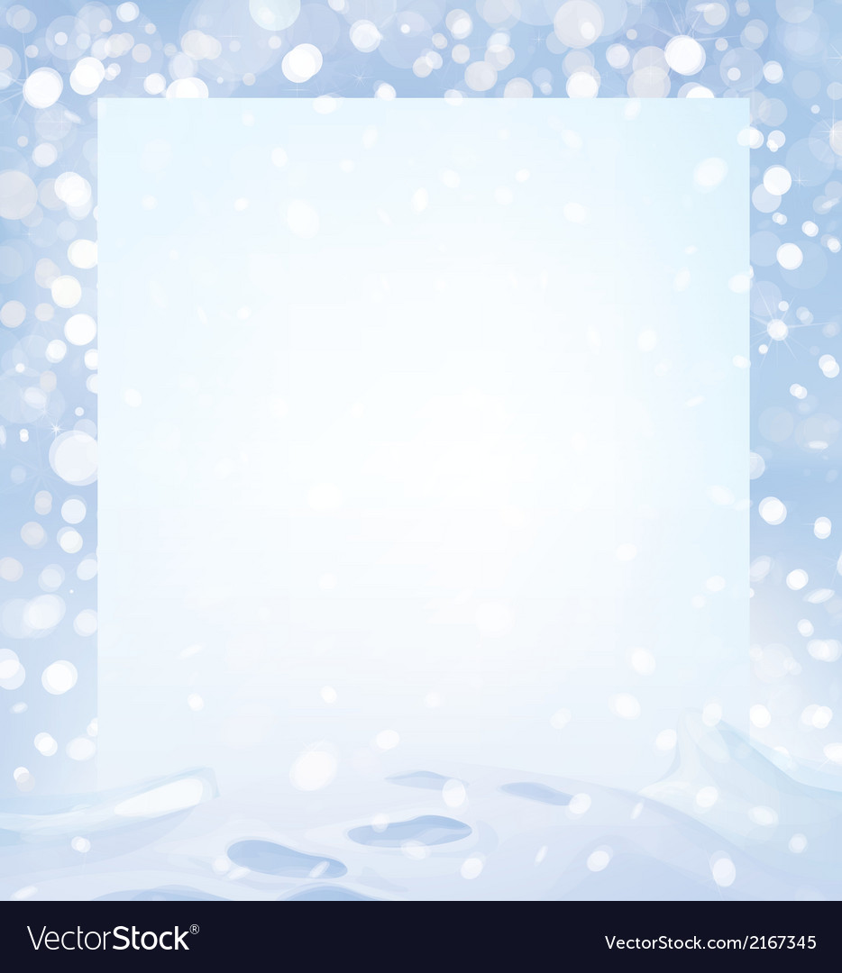 Winter page vector | Price: 1 Credit (USD $1)