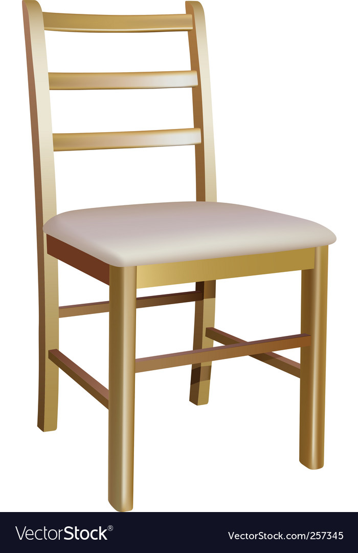 Wooden chair vector | Price: 1 Credit (USD $1)