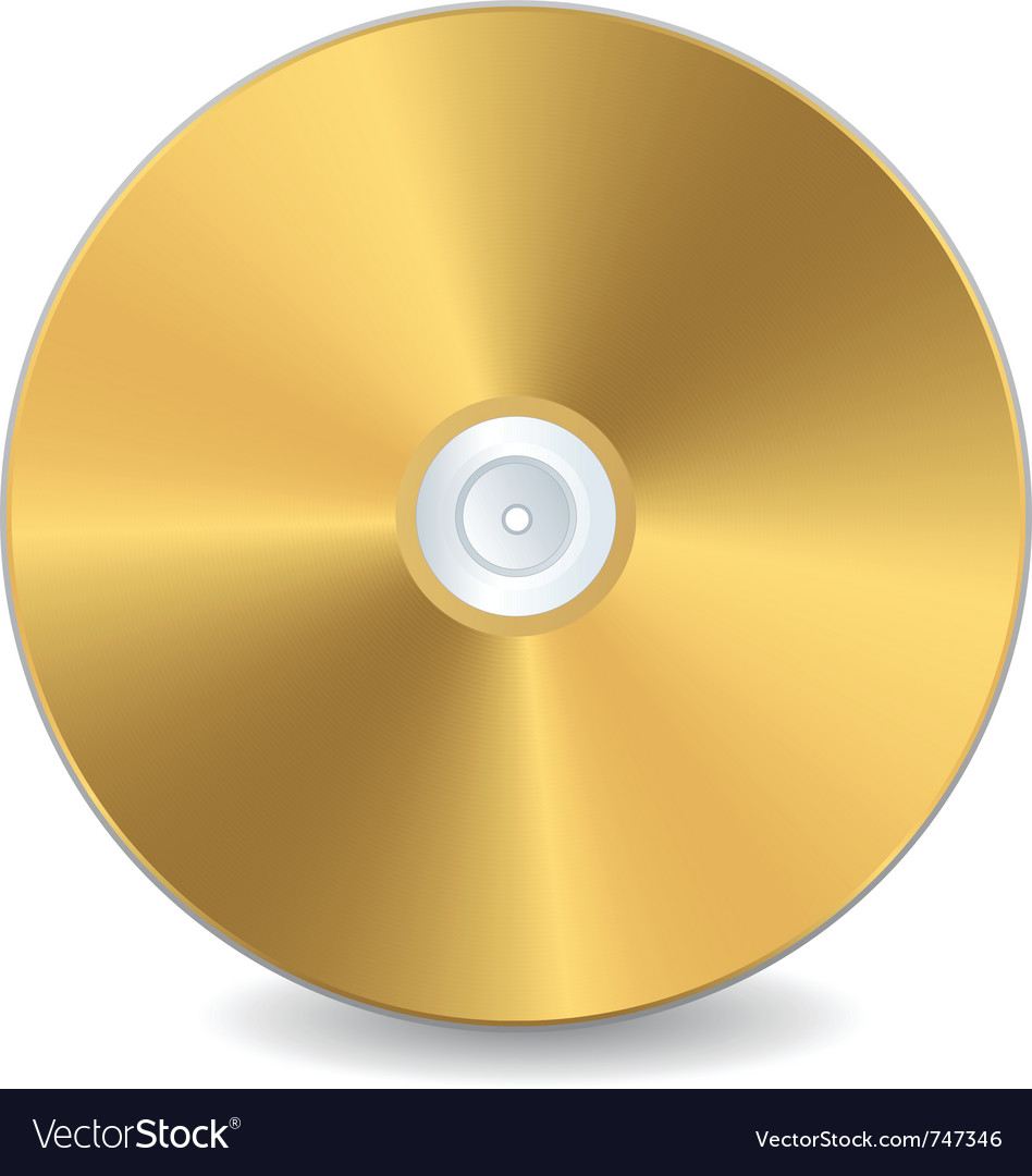 A golden compact disc vector | Price: 1 Credit (USD $1)