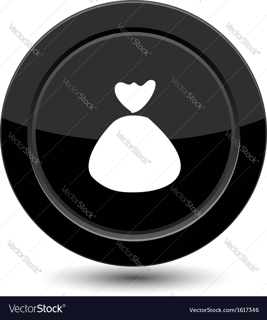 Button with bag vector | Price: 1 Credit (USD $1)