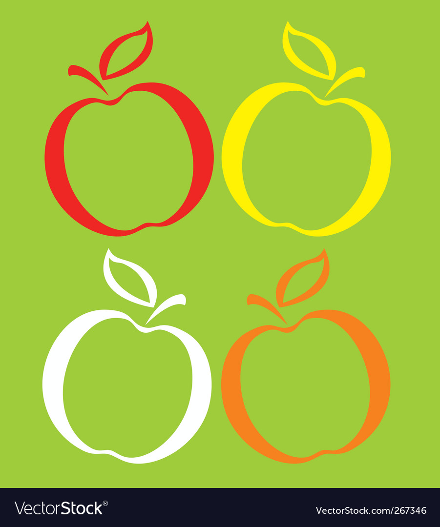 Colored apples vector | Price: 1 Credit (USD $1)