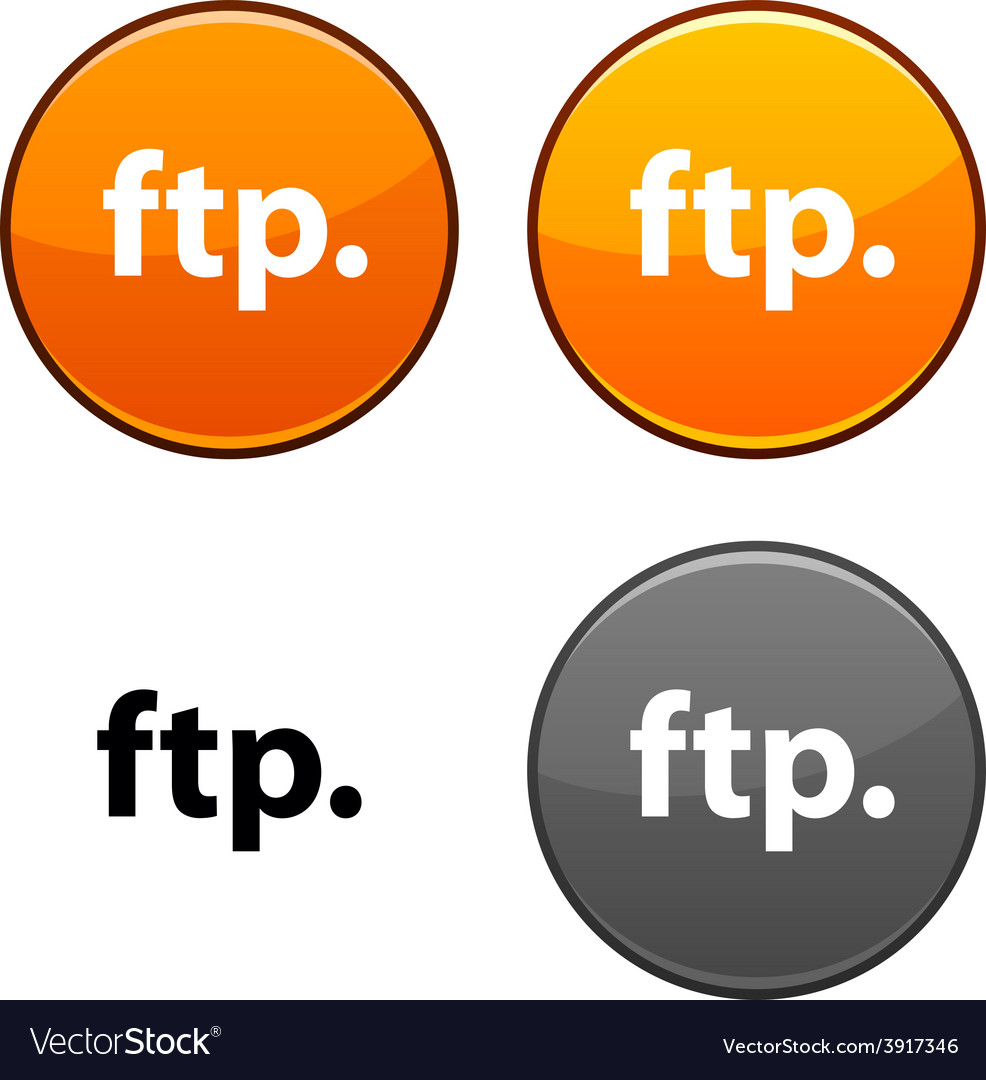 Ftp button vector | Price: 1 Credit (USD $1)