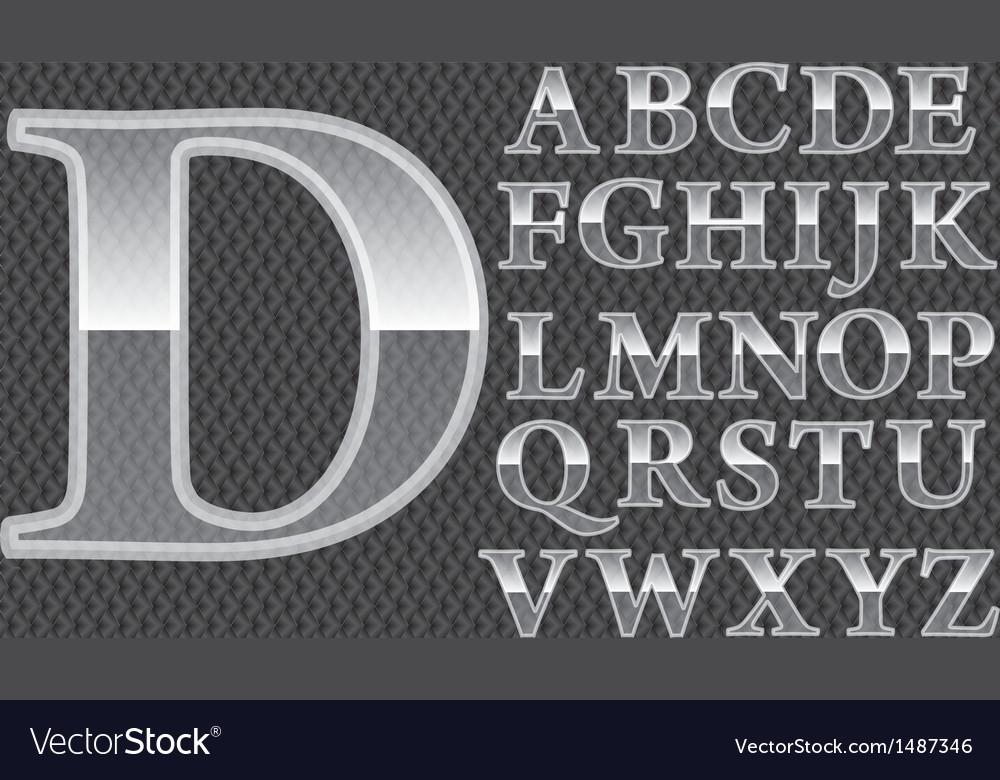 Glass alphabet vector | Price: 3 Credit (USD $3)