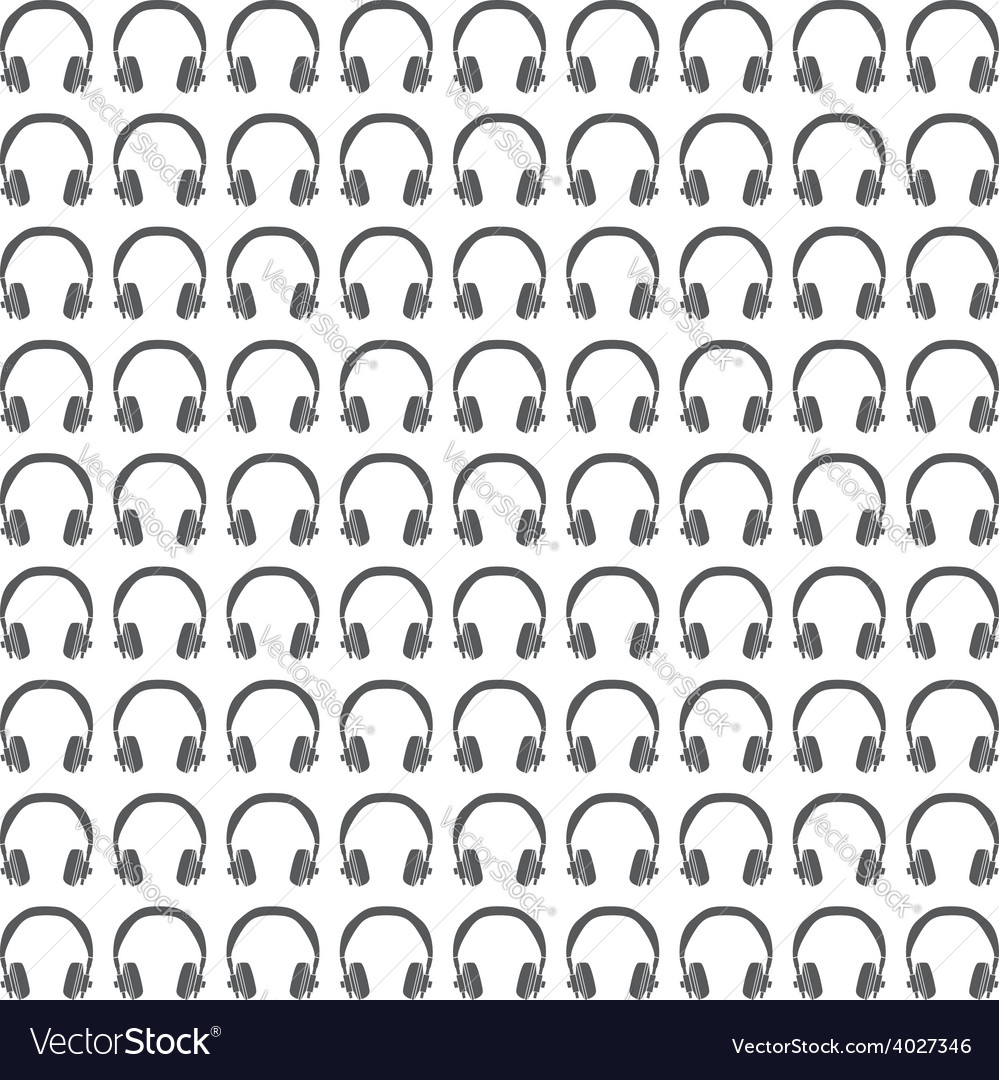Headphones seamless pattern vector | Price: 1 Credit (USD $1)