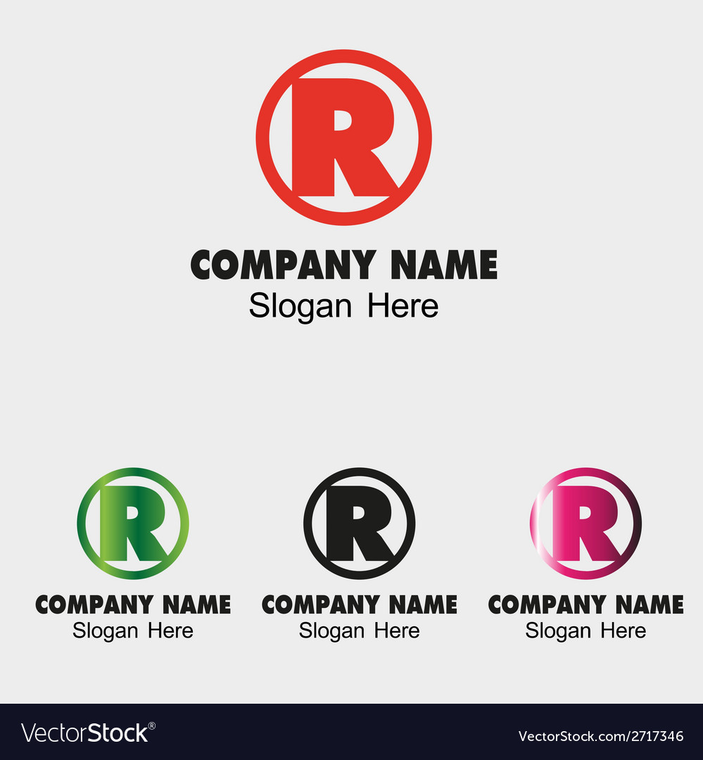 Letter r logo design template letter r icon vector | Price: 1 Credit (USD $1)