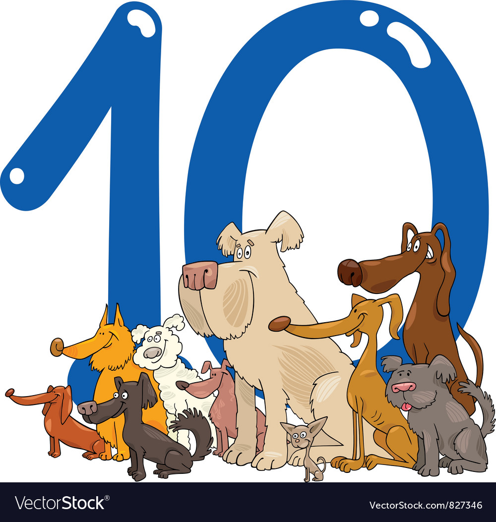 Number ten vector | Price: 3 Credit (USD $3)