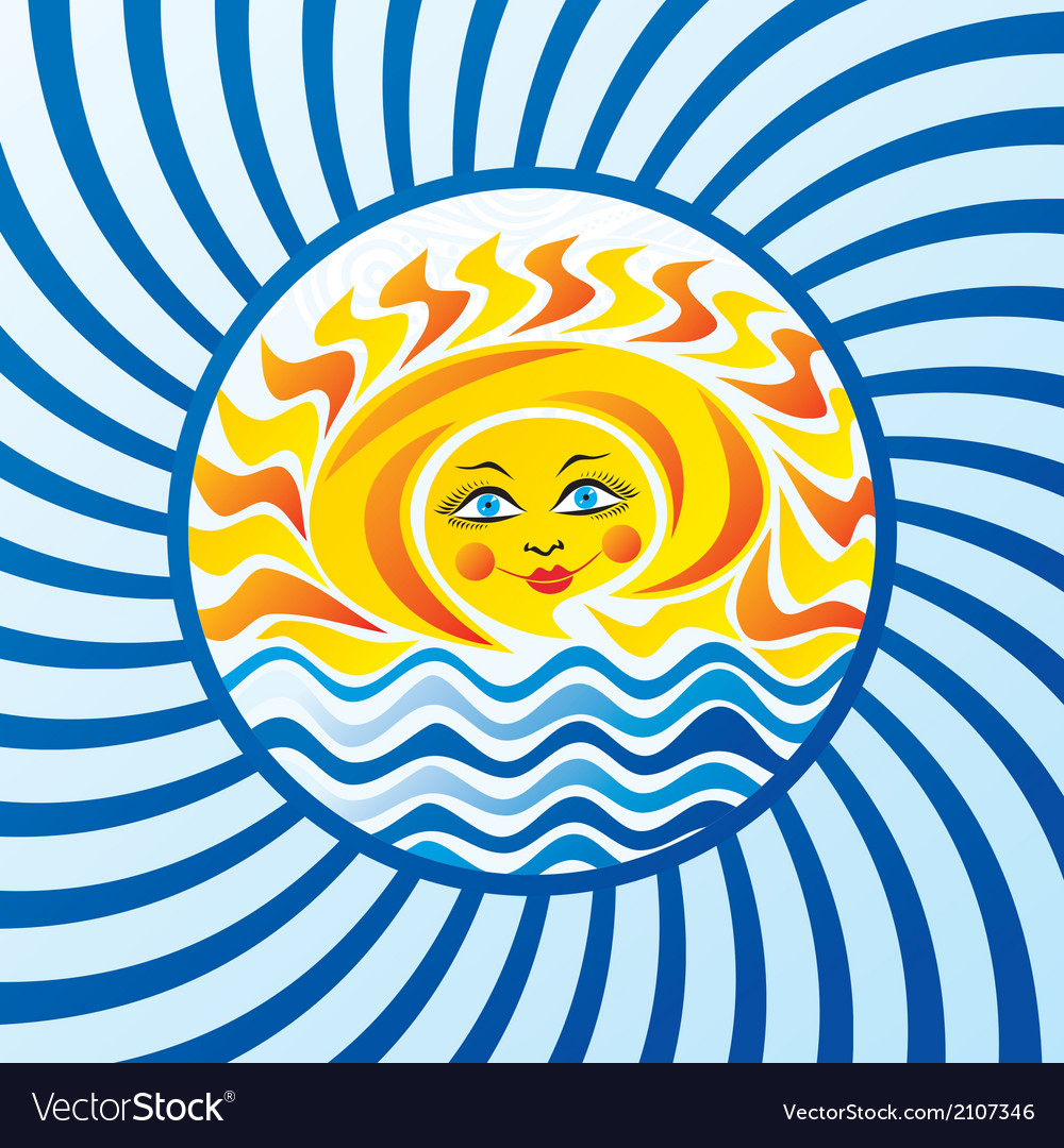 Sea and sun vector | Price: 1 Credit (USD $1)