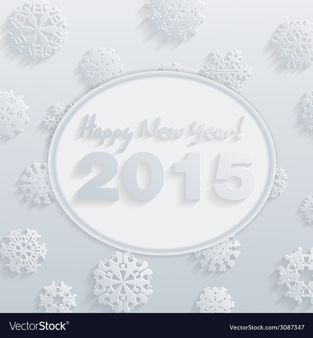 2015 happy new year background in typography style vector | Price: 1 Credit (USD $1)
