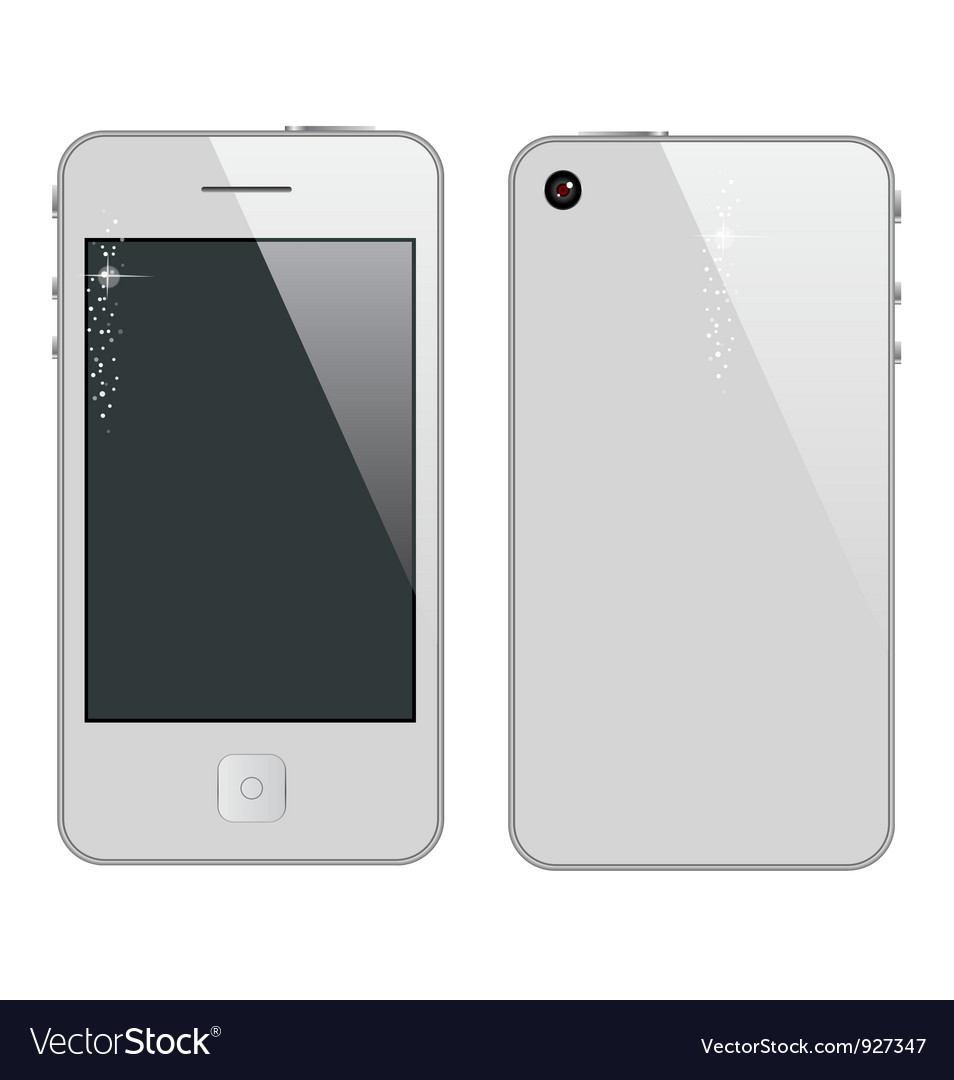 Abstract phone symbol white color vector | Price: 1 Credit (USD $1)