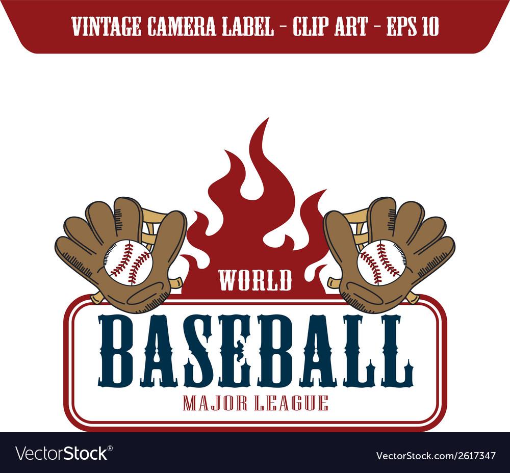Baseball design elements vector | Price: 1 Credit (USD $1)