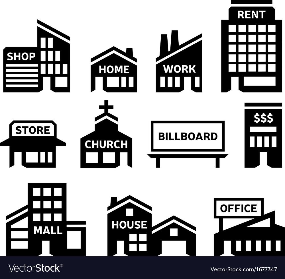 Building symbols vector | Price: 1 Credit (USD $1)