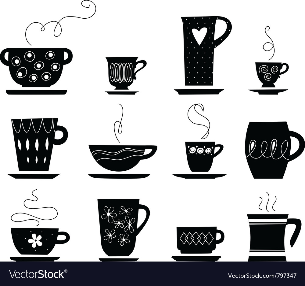 Cup of tea or coffee vector | Price: 1 Credit (USD $1)