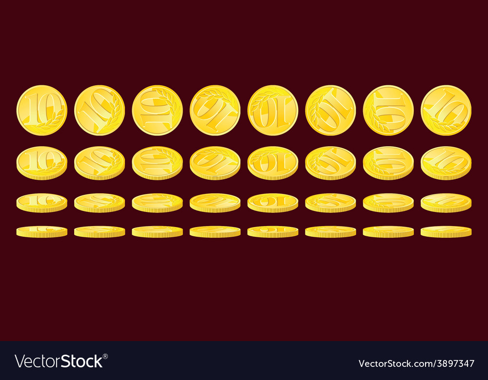 Golden coins vector | Price: 1 Credit (USD $1)